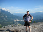August 2011 (hiking to top of Stawamus Chief First Peak) - 205 lbs.